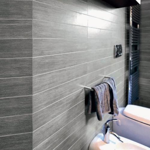 Metalwood argento rett effetto legno casalgrande - Rivestimenti bagno outlet ...